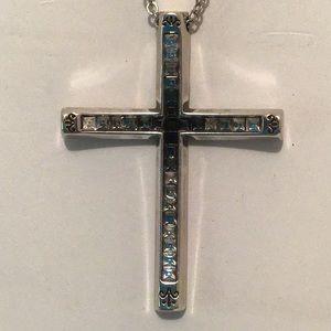 Brighton Spectrum Reversible Cross Necklace NWOT